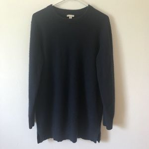 Medium GAP Navy Blue Cashmere Tunic Sweater